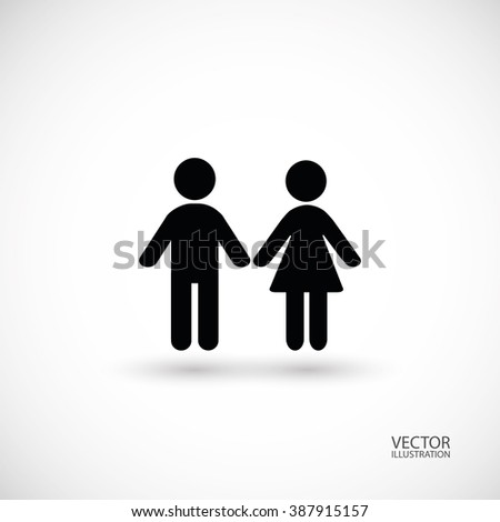 Boy and girl symbol. Vector illustration.
