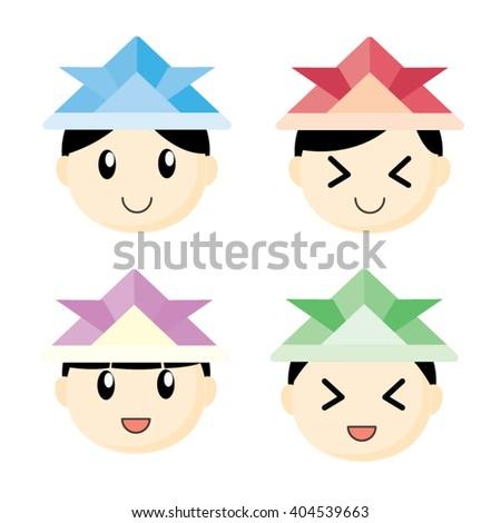 Boy Origami Hat Stock Vector 404539663 Shutterstock