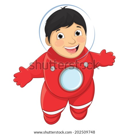 Boy Astronaut Vector Illustration - stock vector