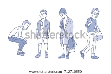 boy fashion style vector illustration flat design