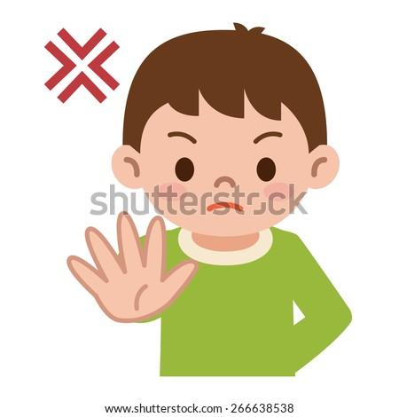Boy has refused - stock vector