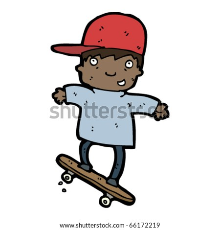 boy on skateboard cartoon