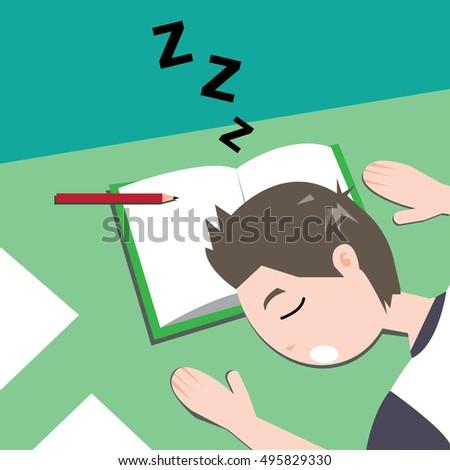 Sleeping While Doing Homework Clip - image 9