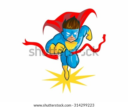 boy superheroes vector