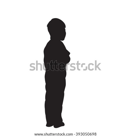 boy. vector silhouette isolated