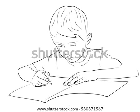 boy writing stock images royaltyfree images amp vectors