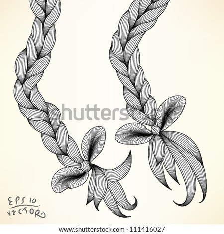 Braid, vector illustration, EPS10 Vector background