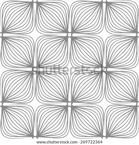 Braided pattern of squares in monochrome seamless vector background. - stock vector
