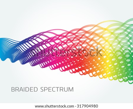 Braided Spectrum-Abstract spectrum gradient in braided pattern