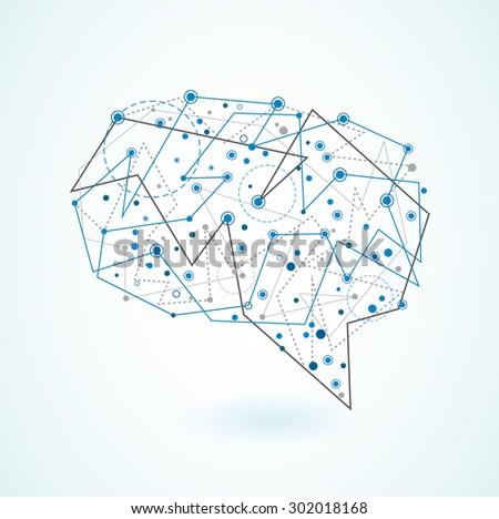 Brain. Abstract design. - stock vector