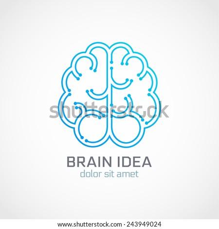 Brain abstract logo template. Vector illustration - stock vector