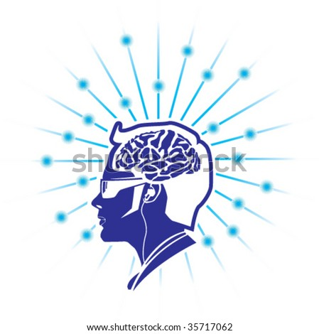 Brain Activity / Universe divine awareness - stock vector