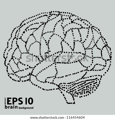 brain background - stock vector