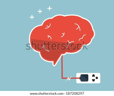 brain charger vector art