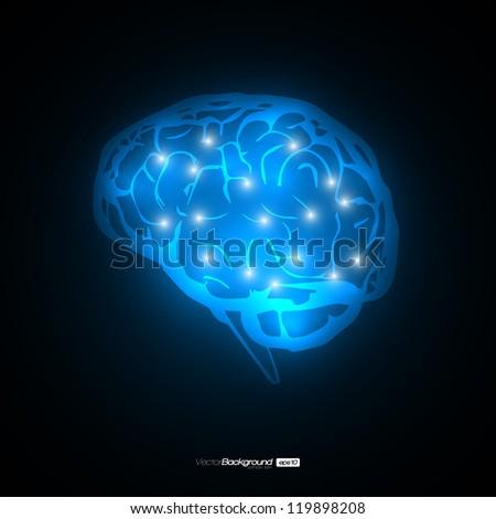 Brain Concept Vector Design | EPS10 Illustration - stock vector
