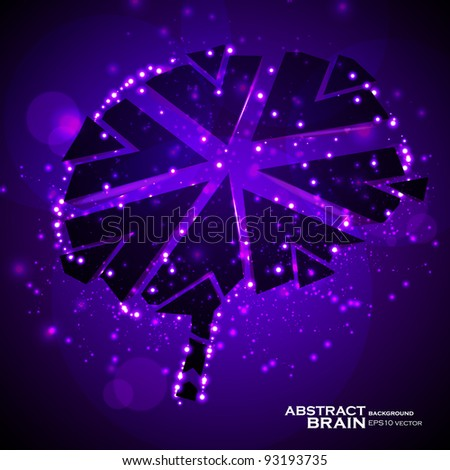 Brain crushing, abstract light background, vector illustration eps10 - stock vector