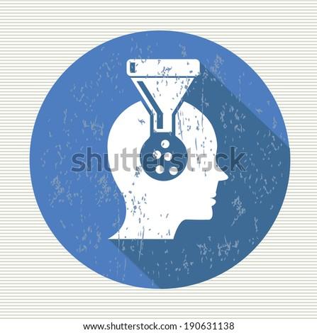 Brain filter symbol,vector - stock vector