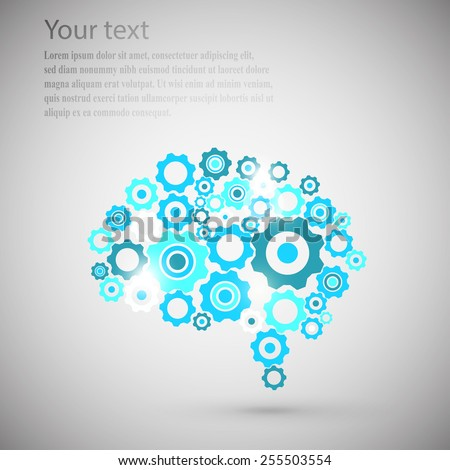 brain gear - stock vector