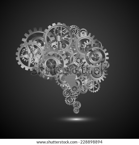 brain gear.vector - stock vector