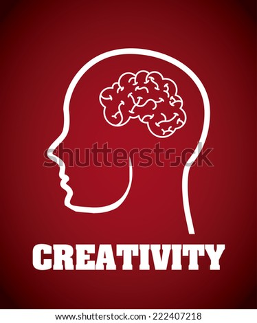 brain graphic design , vector illustration - stock vector