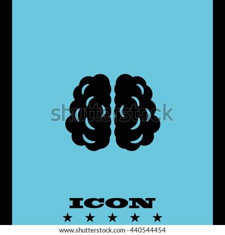 Brain icon. - stock vector