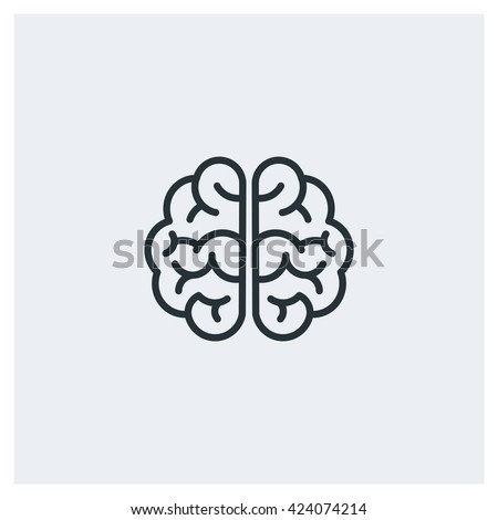 Brain Icon, Brain Icon Eps10, Brain Icon Vector, Brain Icon Eps, Brain Icon Jpg, Brain Icon Picture, Brain Icon Flat, Brain Icon App, Brain Icon Web, Brain Icon Art, Brain Icon Object - stock vector