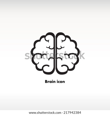 Brain icon on background - stock vector
