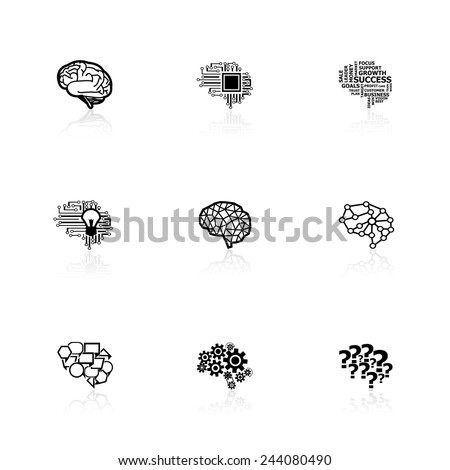 Brain icons - stock vector
