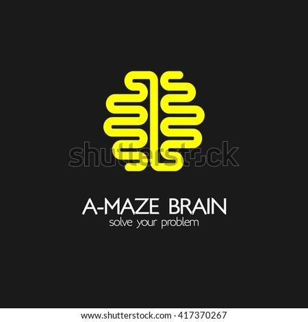 Idea Design brain idea design badges symbol concept and logo Brain Idea Design Badges Symbol Concept And Logo