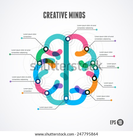 Brain infographic concept. Vector illustration and background - stock vector