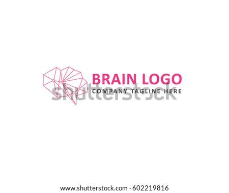 Brain Logo Vector Creative Symbol Stock Vector 602219816 Shutterstock