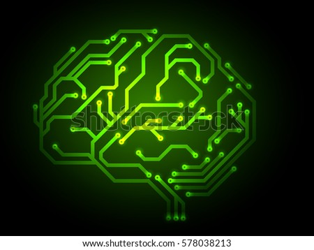 Brain made from digital circuit board