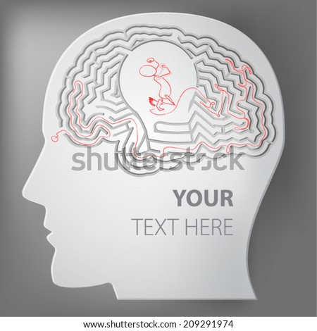 brain maze, idea, business - stock vector