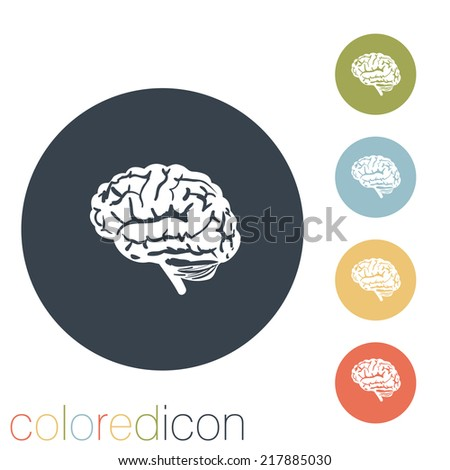 Brain.  Mind and science - stock vector
