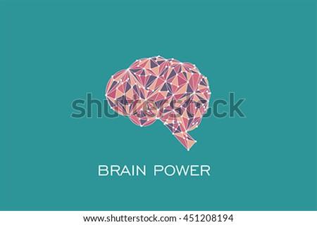 Brain power concept, vector - stock vector