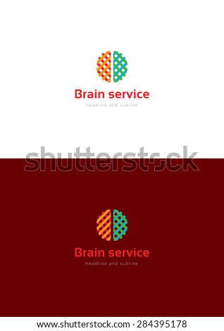 Brain service logo teamplate. - stock vector