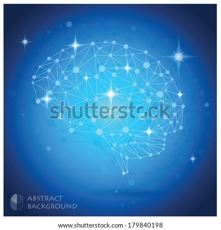 Brain Shape Vector Abstract Geometric Background Design Template