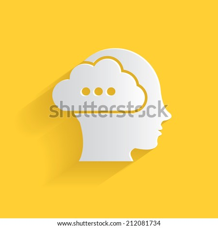 Brain storm symbol,clean vector - stock vector