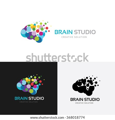 Brain Studio Logo,Vector Logo Template - stock vector