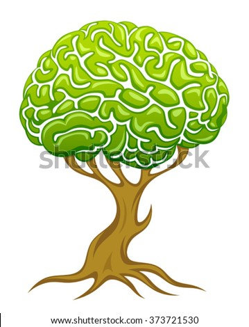 Brain tree - stock vector