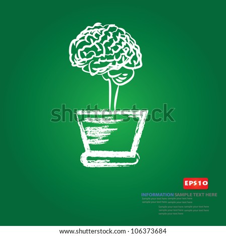 Brain tree,Vector - stock vector