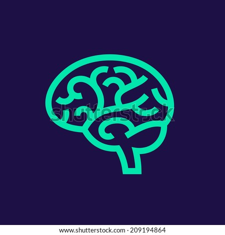 Brain vector icon - stock vector