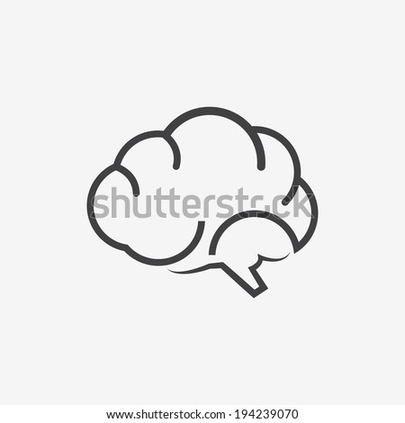 brains icon - stock vector