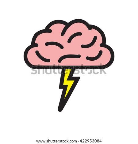 Brainstorming vector icon - stock vector