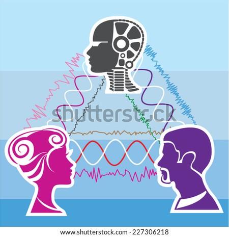 Brainwave connection - stock vector