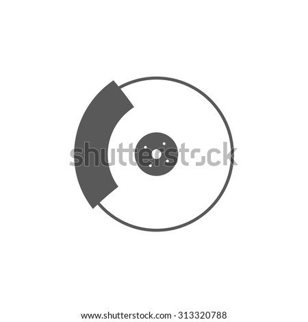 brake icon - stock vector