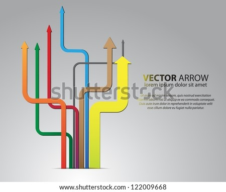 branching vector arrows
