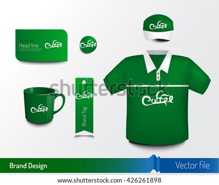 Brand design with object to add logo and identity