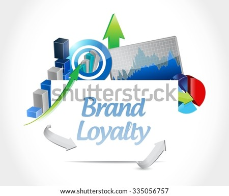 Brand loyalty business sign concept illustration design graphic