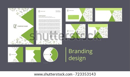 Branding and corporate identity design with pattern fennel
